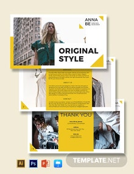 Fashion Designer Presentation Template