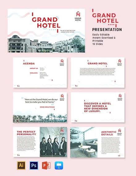 Grand Hotel Presentation Template