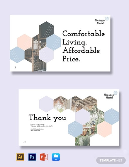 Hexagon Hostel Presentation Template
