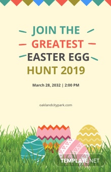 Free Easter Egg Poster Template