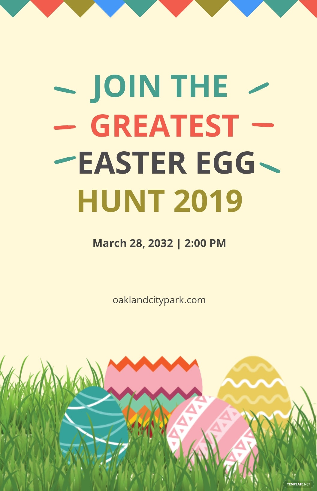 Free Easter Egg Poster Template.jpe