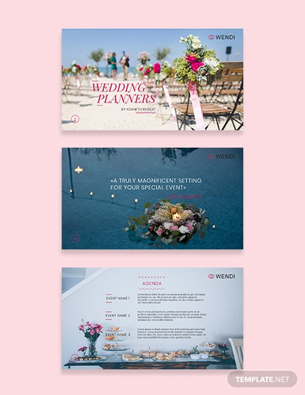 Fall Wedding Planners Presentation Template [Free Keynotes] - Illustrator, Apple Keynote, PowerPoint, PSD