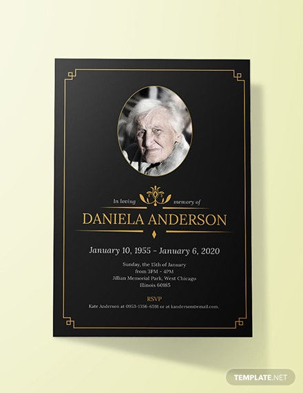 Free Funeral Luncheon Invitation Template