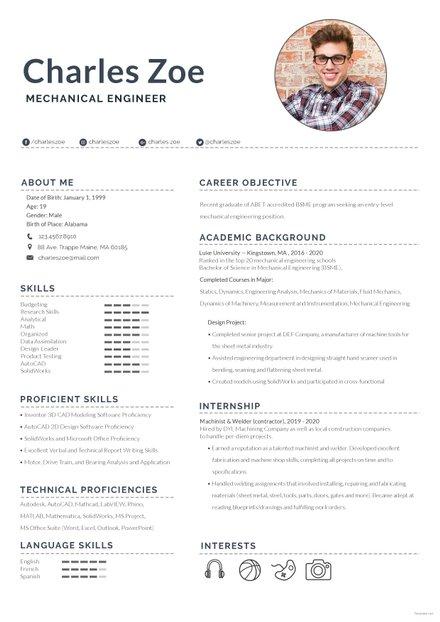 Mechanical Engineer Fresher Resume Template