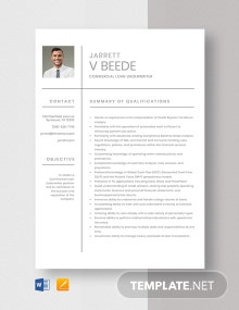 Commercial Loan Underwriter Resume Template