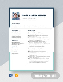 Freelance Graphic Artist Resume Template