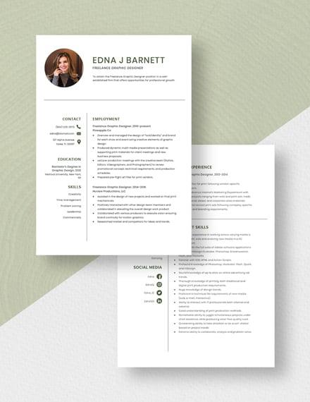 Freelance Graphic Designer Resume Download