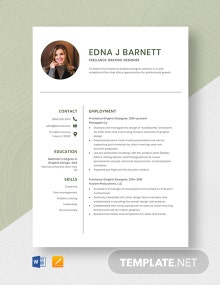 Freelance Graphic Designer Resume Template