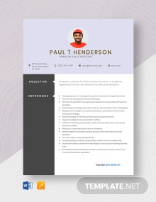 Free Financial Sales Assistant Resume Template