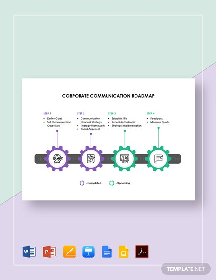 Corporate Communication Roadmap Template