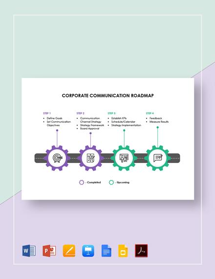 Corporate Communication Roadmap Template