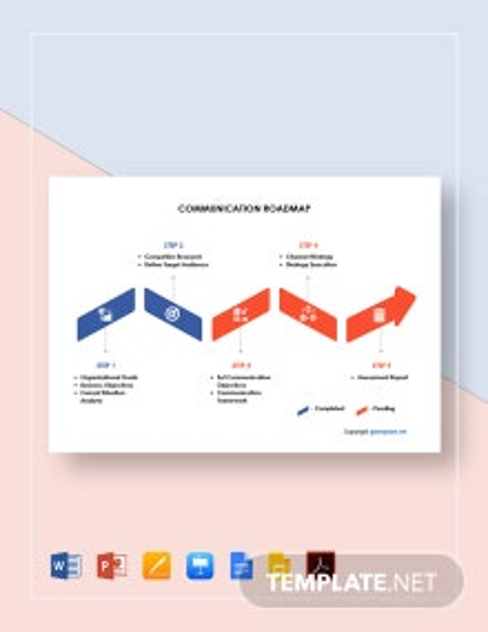 Free Sample Communication Roadmap Template