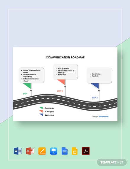 Free Simple Communication Roadmap Template
