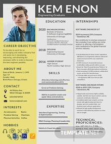 Resume Format for Engineering Freshers Template