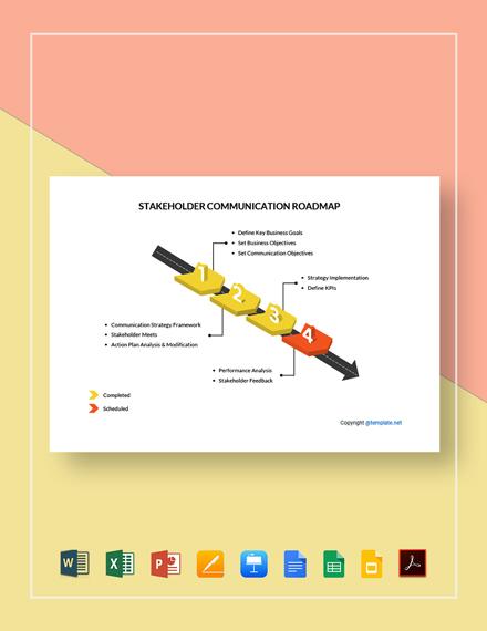 Stakeholder Communication Roadmap Template