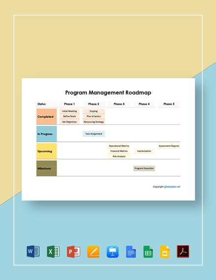Program Management Roadmap Template