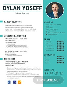 Free School Teacher Resume