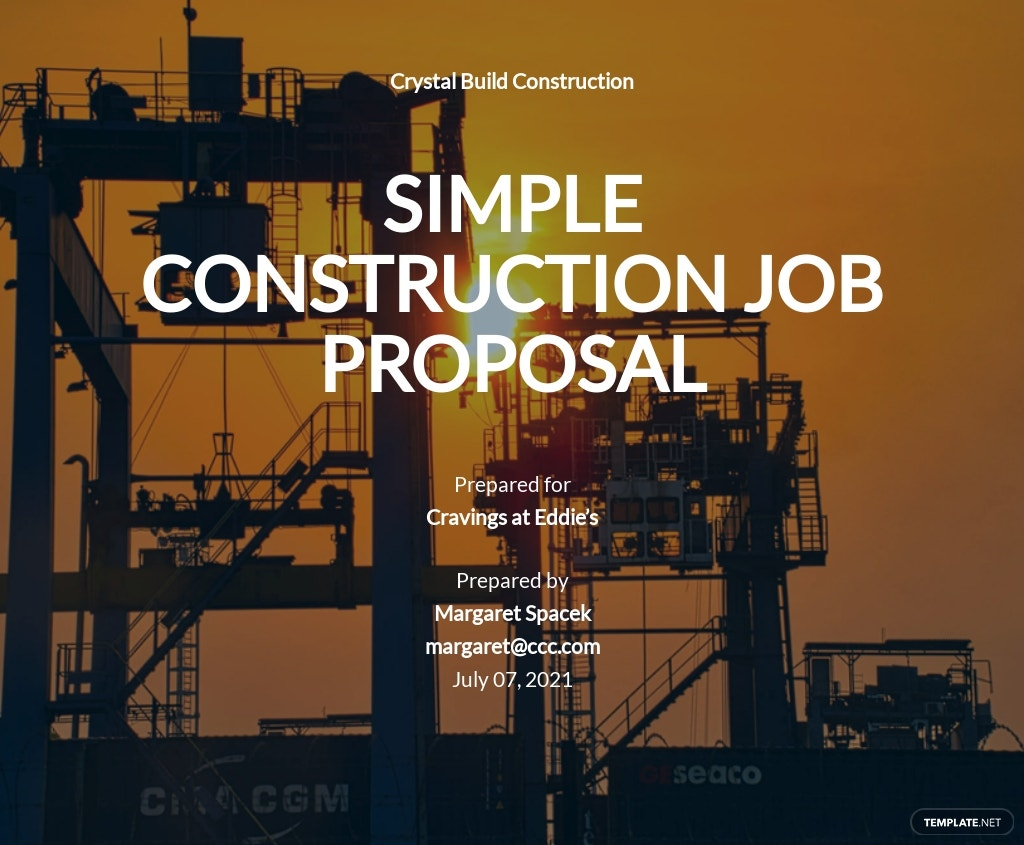 Simple Construction Job Proposal Template