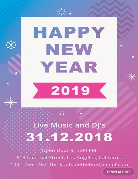 Free New Year Poster Template