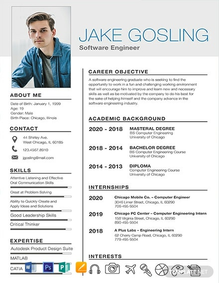 Free Simple Fresher Resume Template
