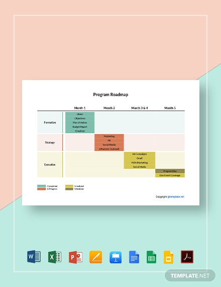 Free Sample Program Roadmap Template