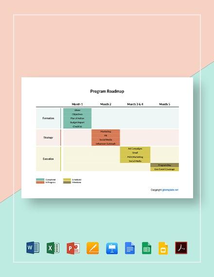 Free Sample Program Roadmap Template