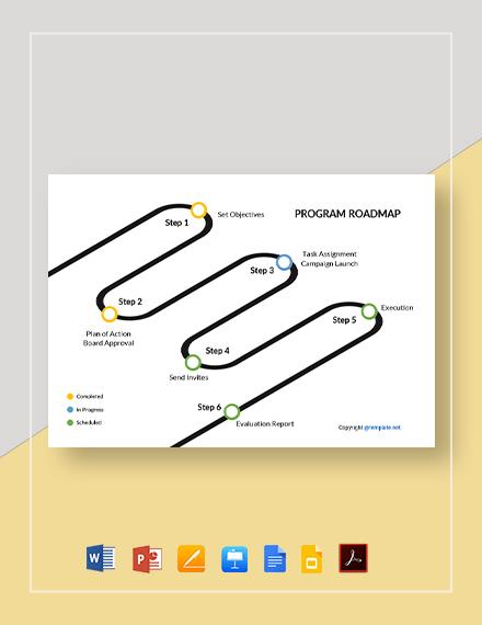 Free Simple Program Roadmap Template