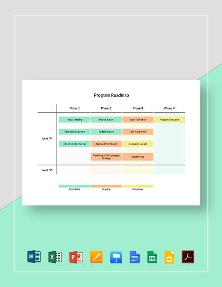 Program Roadmap Template
