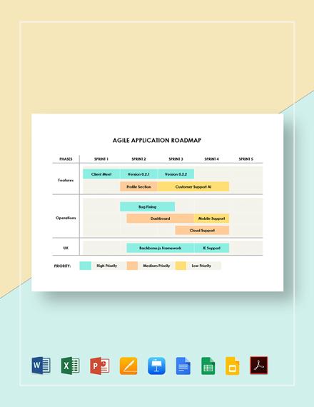 Agile Application Roadmap Template