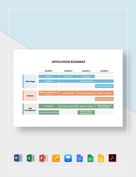 Application Roadmap Template