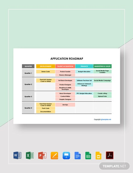 Free Sample Application Roadmap Template
