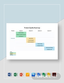 Product Quaterly Roadmap Template