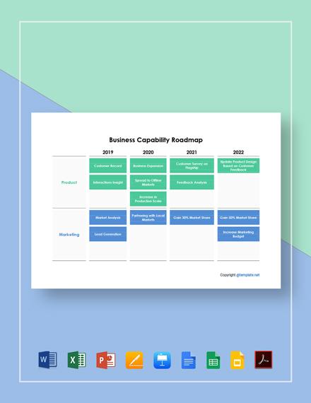 Business Capability Roadmap Template