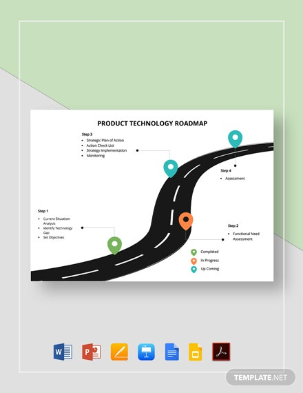 Product Technology Roadmap Template