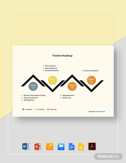 Free Simple Timeline Roadmap Template