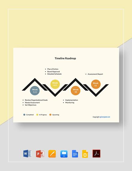 Simple Timeline Roadmap Template