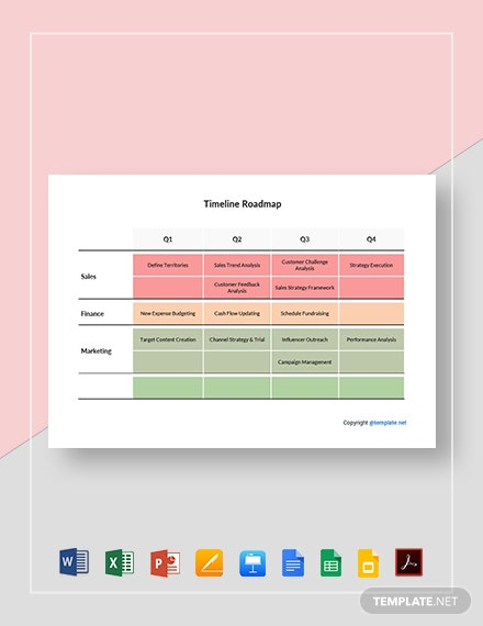 Sample Timeline Roadmap Template