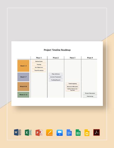 Project Timeline Roadmap Template