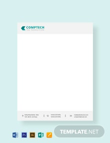 Free Computer Service Letterhead Template