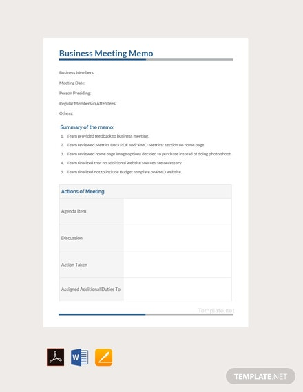 free business meeting memo template 440x570 1