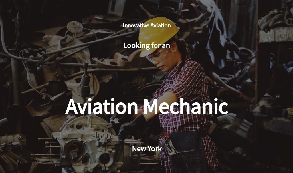 Aviation Mechanic Job Ad and Description Template