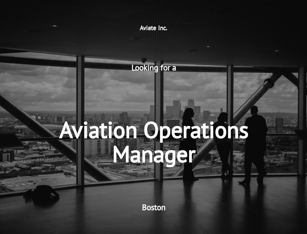 Aviation Operations Manager Job Description Template