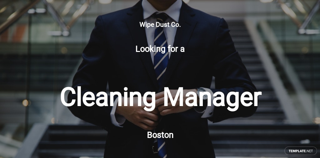 Cleaning Manager Job Description Template