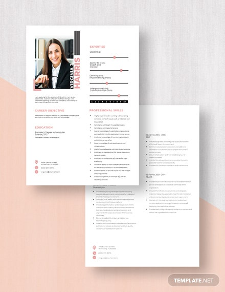 IIS Admin Resume Download