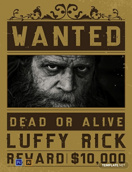 Free One Piece Wanted Poster Template
