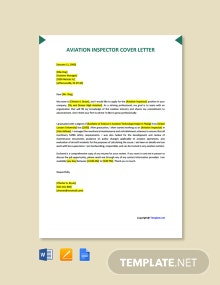 Free Aviation Inspector Cover Letter Template