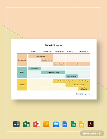 Free Simple Website Roadmap Template