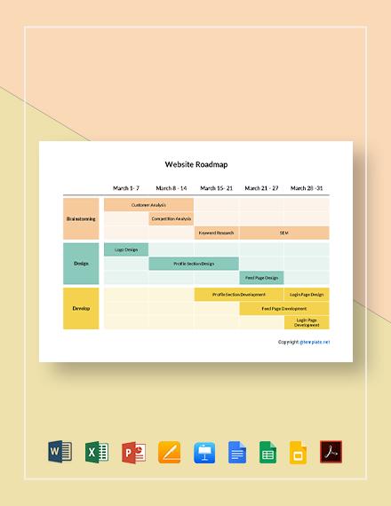 Free Simple Website Roadmap Template