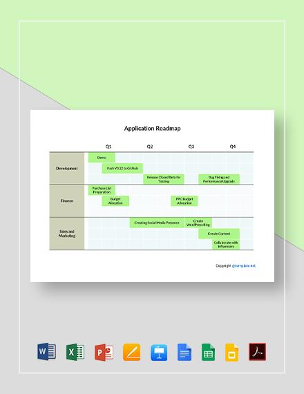 Simple Application Roadmap Template