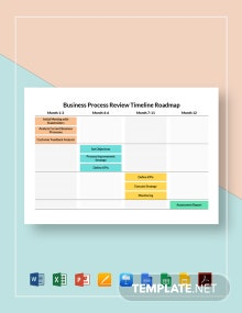 Business Process Review Timeline Roadmap Template